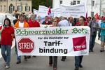 August 2011 - Streik der Redakteure der Tageszeitungen in Oberndorf am Neckar. Foto: Jo E. Röttgers
