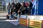 Budapest: Fernsehjournalist Balasz Navarro Nagy im Hungerstreik. Foto: Dagmar Gester