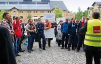 Vor dem MDR in Leipzig: Beschäftigte stärken der Verhandlungskommission den Rücken Foto: ver.di