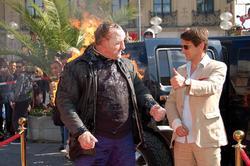 """""""Flammende Aktion"""" gegen schlechte Arbeitsbedingungen der Filmschaffenden im Sommer 2013 Foto: Kersten Hüttner"""