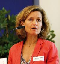 Europaparlaments-Mitglied Helga Trüpel auf dem Urheberkongress 2013 in Berlin Foto: Christian von Polentz / transitfoto.de