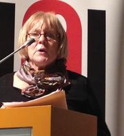 Cordula Bauermeister für ver.di in der EURO-MEI Foto: ver.di