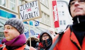 Forderung nach Pressevielfalt in Dortmund Foto: Roland Geisheimer, [M] P. Dreßler
