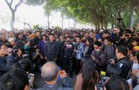 Demonstration für Presse- und Meinungsfreiheit am 7. Januar in Guangzhou.  Foto: Reuters / James Pomfret