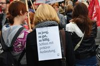 Bewegung in die Verhandlungen haben letztlich die Demonstrationen der Journalistinnen und Journalisten im Herbst in ganz Österreich gebracht Foto: GPA-djp