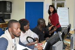 Multimedia-Kurs in Uganda mit Andrea Marshall (RBB) Foto: IIJB