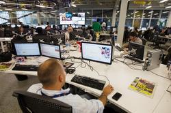 Die Redaktion der Zentrale von Cadena Capriles im Juni 2013. Über den Verkauf der Mediengruppe kann nur spekuliert werden, der neue Eigentümer ist unbekannt. Foto: Carlos Garcia Rawlins / Reuters