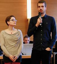 Theresa Moebus und Jasper Ruppert, Schüler an der DJS Foto: Jan Timo Schaube