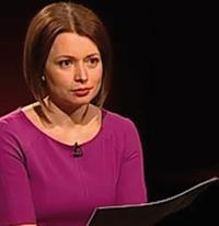 Inga Springe – Gründerin der Rechercheagentur re:baltica – moderiert auf LTV1 eine Polit-Talkshow Foto: LTV1
