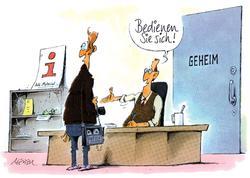 Karikatur:  Gerhard Mester