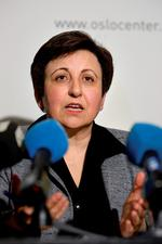Shirin Badri, Friedensnobelpreisträgerin, Iran Foto: dpa/Scanpix Norway /Erlend Aas