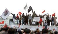 Salafistische Demonstranten vor dem Gebäude des Tunesischen Fernsehens Foto: Reuters/Zubeir Souisi