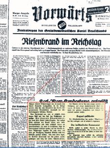 Die erste Version mit einem deutlich anderem Umbruch und Text hält der Identifikation des Täters in dürren Zeilen eine eigene Recherche entgegen. Foto: Abb: Bibliothek Kiel
