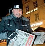 Zeitungszusteller in München Foto: Werner Bachmeier