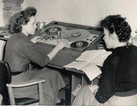 Cutterinnen im Studio Görlitz 1953 Foto: Archiv rbb-Studio Cottbus