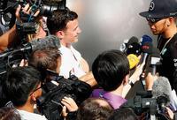Motorsport: Lewis Hamilton bei der FIA Formel Weltmeisterschaft 2015, Großer Preis von Spanien. Foto: dpa / HOCH ZWEI