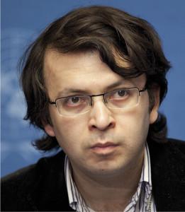 Emin Milli, Meydan TV, eine der wenigen kritischen Stimmen, die über Aserbeidschan berichten Foto: DW / Eric Bridiers
