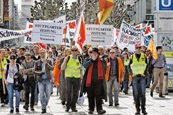 Stuttgart: Eine Hochburg des Widerstandes in dieser Tarifrunde Foto: Joachim E. Röttgers / GRAFFITI