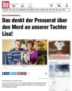 Die Bild-Zeitung im Kampagnenfieber: http://www.bild.de/regional/hamburg/mord/das-denkt-der-presserat-ueber-den-mord-an-unserer-tochter-lisa-41186944.bild.html