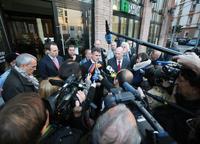 Karlheinz Kroke, Geschäftsführer der Frankfurter Rundschau, gab am 13. November die Insolvenz der Zeitung bekannt. Foto: Frank Rumpenhorst / dpa