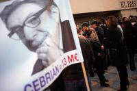 Mitarbeiter von El Pais protestierten gegen die angedrohten Massenentlassungen. Foto: Reuters/Susana Vera