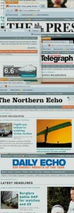 Selbstpräsentation von Newsquest als seriöse Presse. Wie durch Entlassungen Geld gespart wird und die Qualität der Zeitungen leidet, erfährt man hier nicht. Foto: / Screenshots: www.newsquest.co.uk