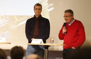 Jens Nähler und Burghard Holz von der Hessisch- Niedersächisischen Allgemeinen Foto: Jan-Timo Schaube