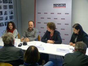 Podiumsdiskussion von Reporter ohen Grenzen (RoG) Foto: Christoph Dreyer