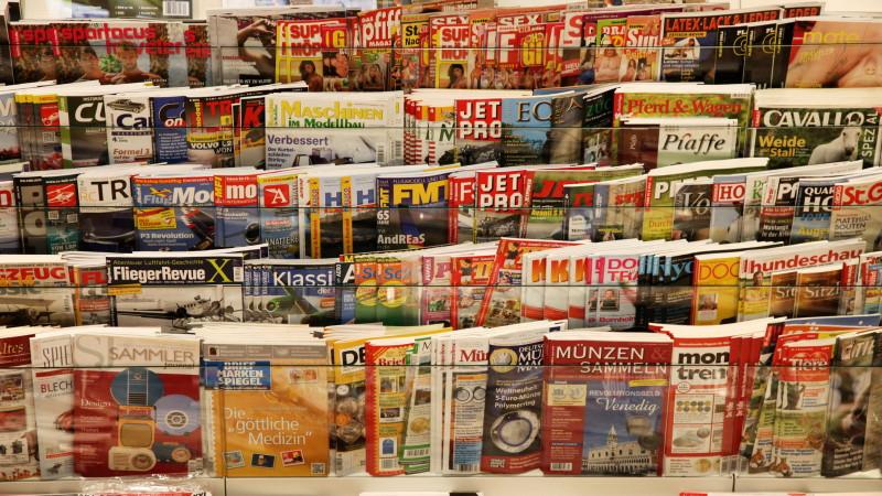Zeitschriftenverkaufsständer in Berlin  Foto: Christian von Polentz