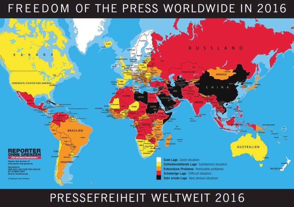 Weltkarte 2016