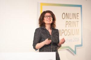 Tina_Halberschmidt, Teamleiterin für Social Media beim Handelsblatt Foto: Online Print Symposium 2016