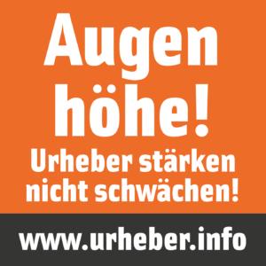 """Aktion """"Auf Augenhöhe""""Bild: Initiative Urheberrecht"""