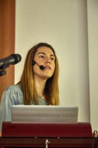 Tanja Schmoller, Gebrüder Beetz Filmproduktion, schwärmt von komplett vernetzten audiovisuellen Meidenproduktionen Foto: Hermann Haubrich