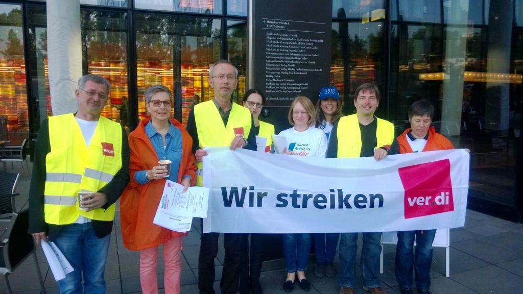 Streikposten bei der Süddeutschen ZeitungFoto: Ertunc Eren