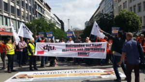 Hannover: Streik-Aktion am Tag der Tarifverhandlungen am 15. Juni 2016 Foto: ver.di