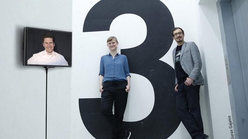 """Das Gründerteam des Hintergrundmagazins """"Der Kontext"""": Erich Seifert, Julia Köberlein und Bernhard Scholz (v.l.n.r.) Foto: Kontextlab"""