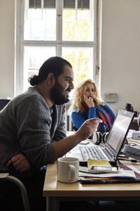 Khalid Alaboud und Amloud Alamir Foto: Hermann Haubrich