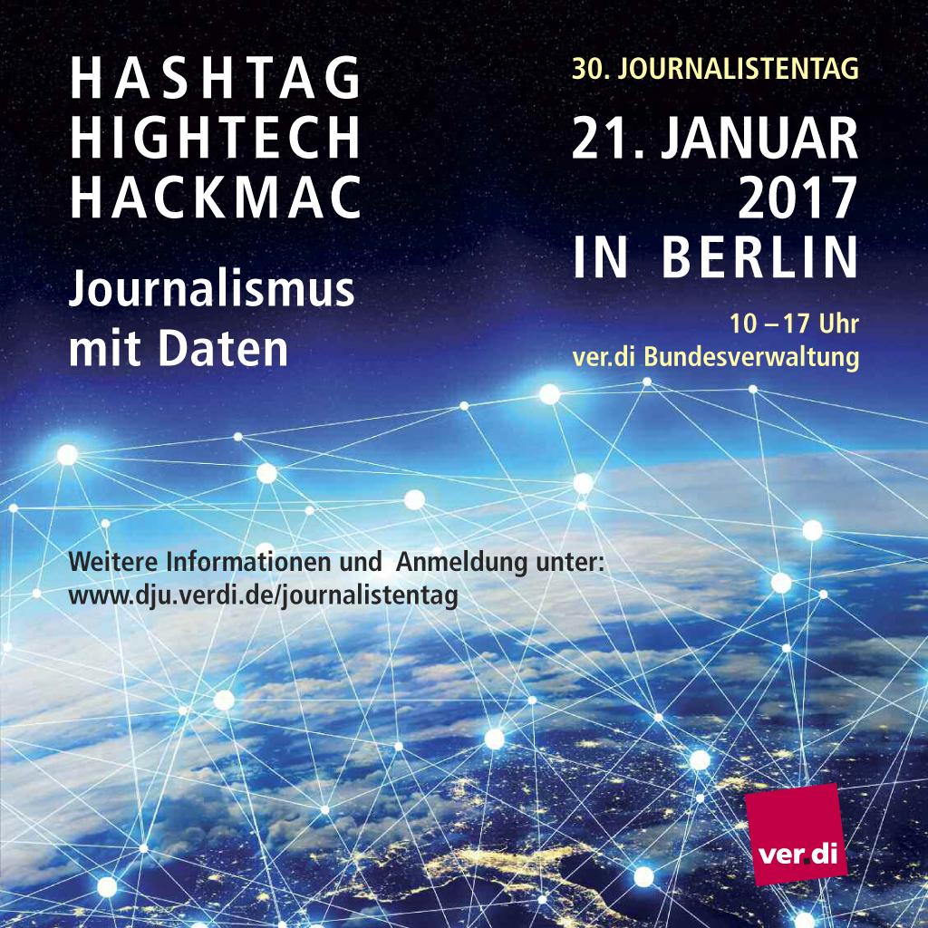 Journalistentag 2017 Anzeige